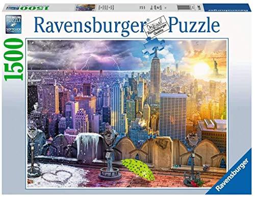 Ravensburger- Puzzle 1500 pièces Les Saisons à New York Adulte, 4005556160082