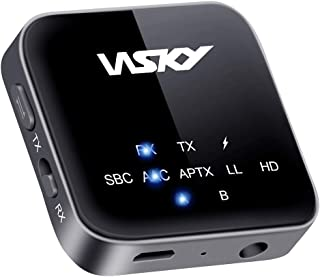 Bluetooth トランスミッター レシーバー 一台二役 Bluetooth送信機 受信機 高音質 低遅延 通話機能 APTX-HD AAC対応 BT-B10 (ブラック)