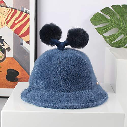 Modische Kleidungsstücke Herbst und Winter Baby Hut weiche Chenille Samt Kinder Fischer Hut Pelz Ball niedlichen Jungen und Mädchen Topf Hut Geschenk