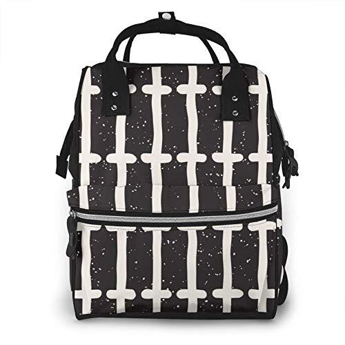 Mochila organizadora para pañales, bolsa de bebé, mochila de viaje impermeable aislada, bolsa de hombro de gran capacidad para mamá, estilo étnico duradero y elegante