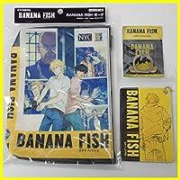 BANANA FISH グッズ 3点セット/ポーチ/スマートフォンリング ロゴ柄/レザーパスケース アッシュ/アニメグッズ
