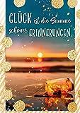 bentino Geburtstagskarte mit MUSIK und LICHTEFFEKT, DIN A5 Set mit Umschlag, spielt 'Ein schöner Tag' (Coverversion), romantische Geburtstagskarte mit leuchtendem Sonnenuntergang