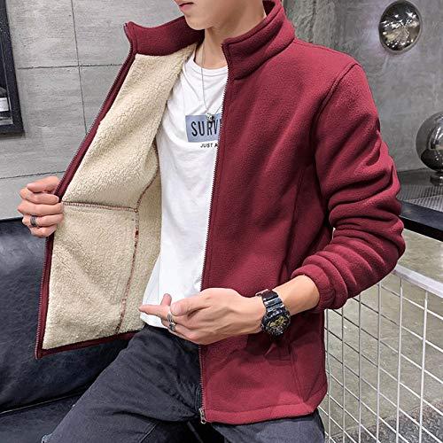 XFX1990 herenmantel mode herfst en winter ritssluiting sweatshirt jas wol dikke mantel jas maat 7XL 8XL