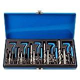 Greneric Kit de reparación de roscas helicoidales, 151 unidades, métricos, M5, M6, M8, M10, M12, acero inoxidable