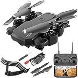 DEAR-JY Drone,1080P HD Cámara En Tiempo Real Drone Quadcopter Portátil,Control Remoto De 2.4Ghz Sin Cabeza Posicionamiento De Flujo Óptico De Cámara Dual Super Easy Fly para Entrenamiento,Negro