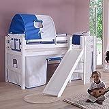 Pharao24 Kinderhochbett Miliana mit Rutsche