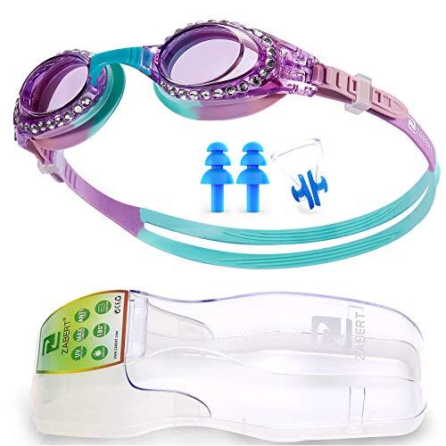 ZABERT K5 - Occhialini da nuoto per bambini e bambine, per bambini e ragazzi, 3 4 5 6 7 8 9 10 11 12 anni, viola