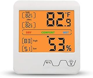 hkwshop Higrómetro para Interior Hygrómetro Digital Termómetro Interior Humedad y medidor de Temperatura Monitor Sensor co...
