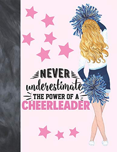 Never Underestimate The Power Of A Cheerleader: Cheerleading Sudoku Puzzle Book Gift For Girls - Easy Beginners Activity Puzzle Book For Those On The Sudoku Puzzle Craze