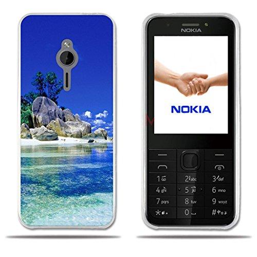 FUBAODA für Nokia 230 Hülle, [Boulder Beach] Transparente Silikon Clear TPU Fashion Kreatives Design Minimalist Ultra Thin Lightest Slim Fit Vollschutz Anti Schock Design Paar Geschenk für Nokia 230
