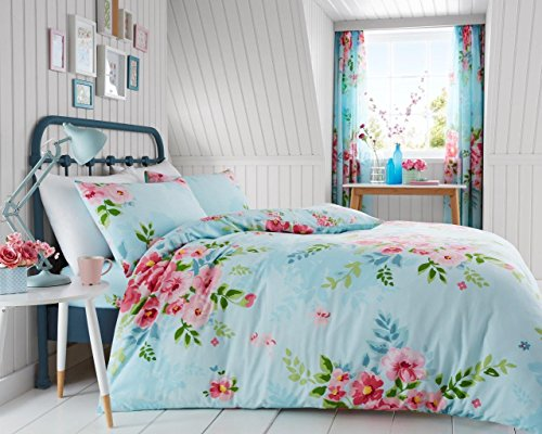 Gaveno Cavailia Luxury ALICE Bed Set with Duvet Cover and Pillow Case, Polyester-Cotton, Turquoise, Double