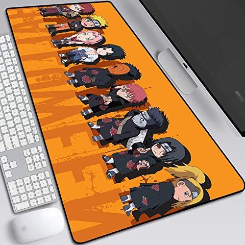 Alfombrilla De Ratón Anime Naruto Extended Gaming Mouse Pad, 900 X 400 X 3 Mm Control De Precisión Base De Goma Antideslizante Para Tapete De Teclado Alfombrilla De Escritorio Juego De Computadora Par