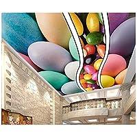 カラー3D天井カスタム壁紙印刷石ヒトデ3D天井壁紙壁画ホームセンター-120x100cm/47x39in