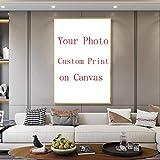 PANDABOOM Foto Personalizada Personalizada Su Foto en Lienzo, Haga su Propia decoración privada Personalizada de Fotos Grabe su Memoria con Marco - 40X40Cm