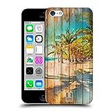Head Case Designs Playa Mezcla de Estampados de Madera Carcasa rígida Compatible con Apple iPhone 5c