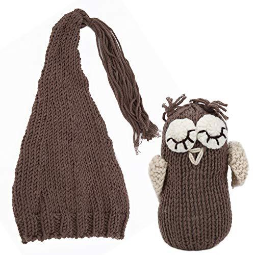 SALUTUYA Sombreros de Moda para bebés recién Nacidos Photo Contume para bebés recién Nacidos(Khaki)