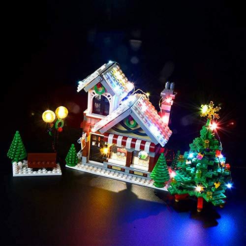 HLEZ USB Juego de Luces de para Tienda de Juguetes de Invierno Modelo de Bloques de Construcción, Kit de Luces Compatible con Lego 10249 (Modelo Lego no Incluido)