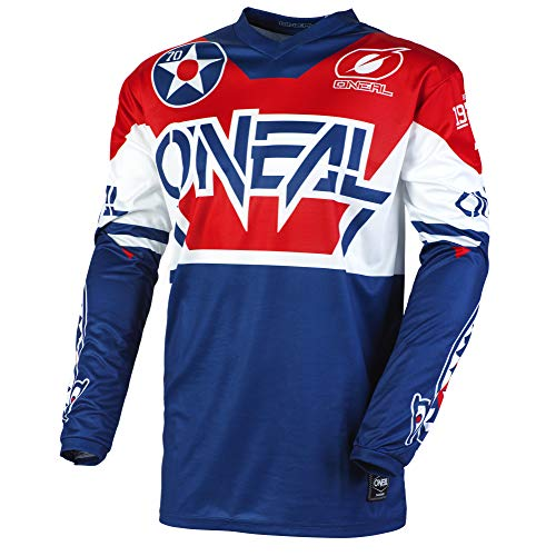 O'Neal Element Youth Jersey, Warhawk, Blue/Red, MED