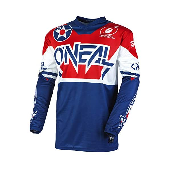Cycling Jerseys O'Neal Unisex Element Jersey T-Shirt, Azul/Rojo, M [tag]