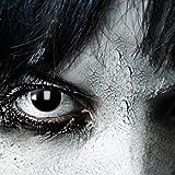 Black Witch, schwarze 3-Monatslinsen, PAAR, schwarz, Vampir Make up/Vampir Schinke, Halloween Kontakt Linse, Damon, Hexe, Zombie, -