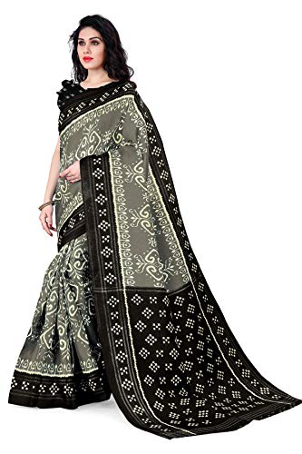 Mirchi Fashion Damen Designer Bedruckter Sari mit Blusenteil Gr. One size,...