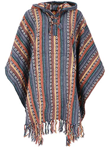 GURU SHOP Poncho estilo hippie chic, poncho étnico, poncho Anden, para...