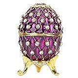 Wosune Organizador de Joyas, joyero de Huevo Delicado y Elegante para Homestudio para la Tienda de Amigos para decoración