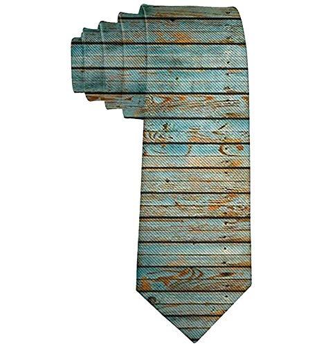 Corbatas de patrón de madera lavada de madera para hombres Corbatas finas y novedosas Corbatas-Regalo
