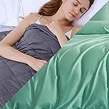 Manta Insomnio con Funda,4.5kg Weighted Blanket para Peso Corporal 49-63kg para Reducir El Autismo, La Ansiedad, Los Nervios,122x183cm,Verde Claro