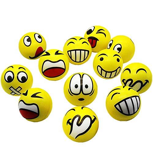 Emoji Anti-Stress Ball Knitter Smiley Gesicht Mit Lustigem Gesicht Druckentlastung Spielzeug Erwachsenes Kind Anti-Stress Ball 12 Stücke