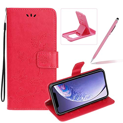 Buy Bargain Strap Leather Case for iPhone 11 Pro Max,Hot Pink Wallet Leather Cover for iPhone 11 Pro...