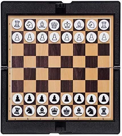 Juego de Ajedrez Conjunto de ajedrez magnético Cartera Apariencia Portátil Plegable Tablero de ajedrez Juegos de Tabla de Viaje Fiesta de Viaje Niños Regalo Internacional Ajedrez LQHZWYC