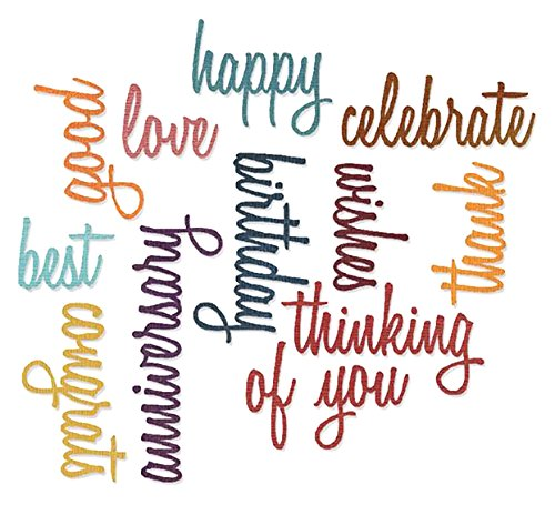Sizzix Thinlits Die Set - Celebration Words: Script