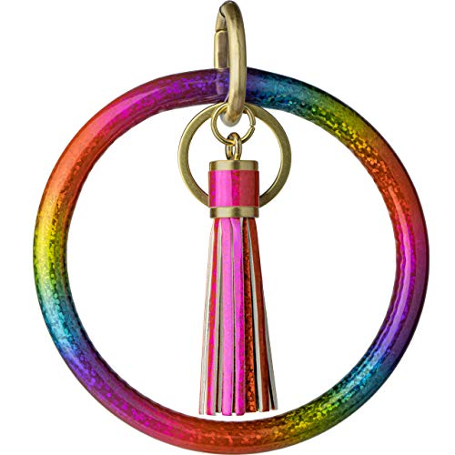 Buntes Armband mit Schlüsselanhänger. - - Large