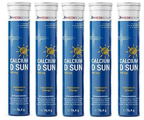 Calcium D Sun Medibond 5 x 20 Brausetabletten