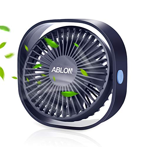 Ablon Desk Fan, Small Table Personal Portable Mini Fan Powered by USB,...