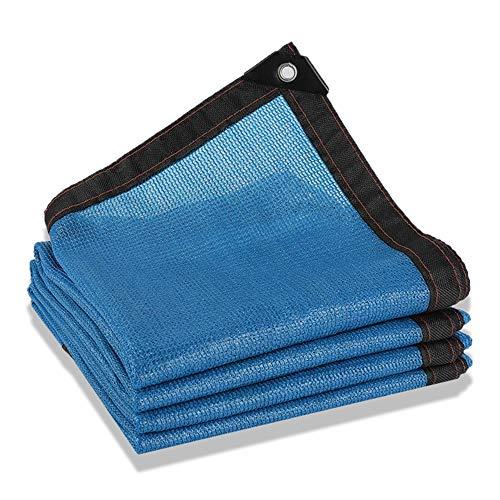 TJWY Shop Toldo Vela 80% Azul Protector Solar Tela De Sombra Al Aire Libre Piscina Patio Las Flores Red De Sombreado 23 Tallas Tamaño Personalizable Malla Sombreadora (Color : Blue, Size : 2x3m)