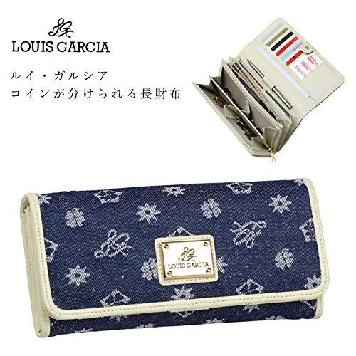 『ルイ・ガルシア コインが分けられる 長財布 かぶせ デニム ジャカード織生地 ルイガルシア LOUIS GARCIA』の1枚目の画像