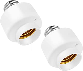 Smart WiFi E26/E27 Lamp Socket, Intelligent WiFi Home Remote Control Lamp Bulb Holder, Only Support 2.4GHz Network (2 pcs)