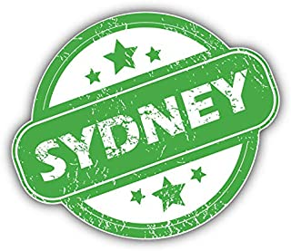 "MAGNET Sydney City Australia Grunge Rubber Stamp Vinyl Magnet Bumper Refrigerator Sticker Magnet Flexible Reuseable Magnetic Vinyl 5"""