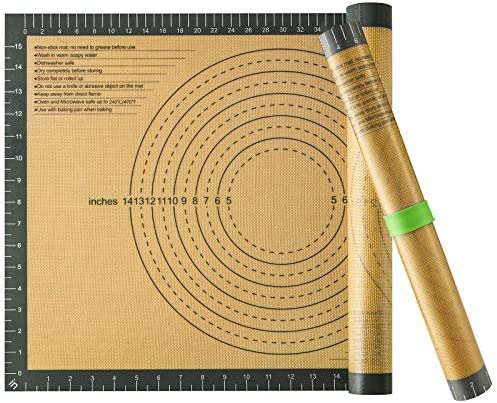 Silicone Pastry Baking Mat Non Stick Extra Large Thick Rolling Dough with Measurements Non Slip product image