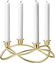 Georg Jensen Season Candle Holder, Gold, 0.1 x 0.1 x 9 cm