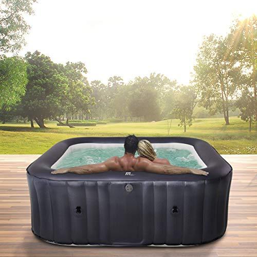 Miweba MSpa aufblasbarer Whirlpool Muse Otium M-OT061 für 6 Personen - kraftvolle Hydro-Massagedüsen - inkl. Ozongenerator & UV-C Wasserreinigung - 125 Luftdüsen
