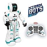 Xtrem Bots- Robbie niños con Sensor de Movimiento, Interactivo Control Remoto programable. Juguete Robot Inteligente, Color Blanco/Azul (XT380831)