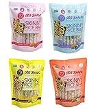 180 Snacks Pre-Meal Snack Skinny Rice Bar with Himalayan Salt Variety Bundle Pack (4) 3.22 oz each