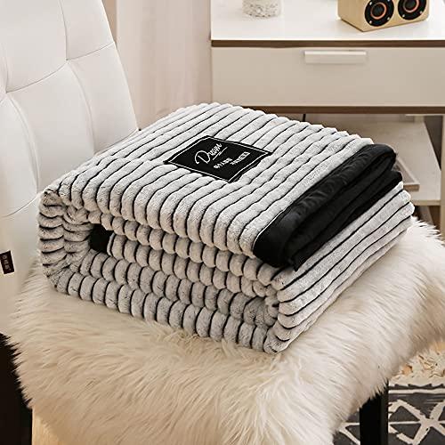 Stillshine. Schneeflocke Kuscheldecke Flauschige Decke Wohn Tagesdecke Wohndecke Couch-Decke Reisedecke Heimdecke Exquisiter Komfort Bettsofa Haustierdecke (200X230CM,Grau)