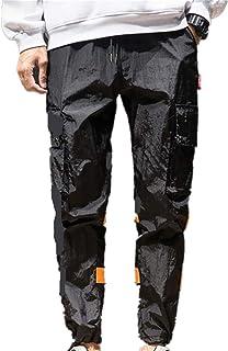 男性のロングパンツ、三番目の店 スリムフィット スポーツ ファッション カジュアル 快適 弾力 メンズ カジュアル ルーズ スポーツズボン マルチポケット 伸縮性ウエスト パンツ