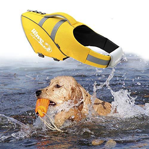 Wave Rider's Reflective Dog LifeJacket, Super Buoyancy and EVA Lining ,Adjustable Dog Safety Vest....