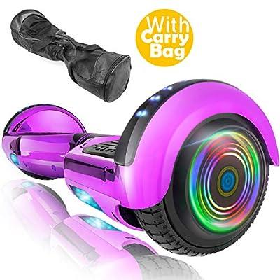 XPRIT 6.5'' Self Balancing Hoverboard, w/Wireless Speaker, UL2272 Certified (Chrome Purple)