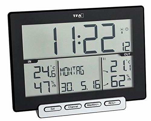 TFA Dostmann Funk-Thermometer Hygrometer Trinity 30.3058.01 (schwarz mit Batterien)